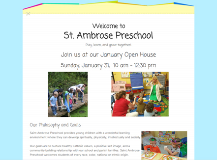 st ambrose preschool check out the new website for our preschool st ambrose 116