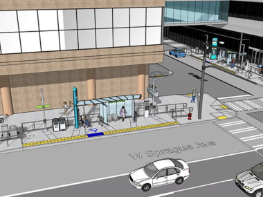 Rendering of CCL stations at The Plaza