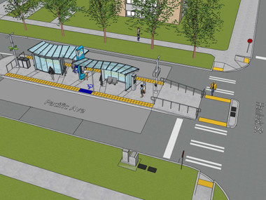 Rendering of CCL station at Pacific and Hemlock