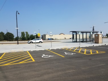 Transit center nearing completion