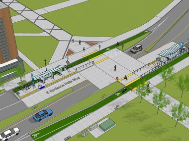 Rendering of CCL stations at WSU/EWU Spokane