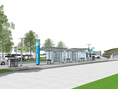 Rendering of Moran Station