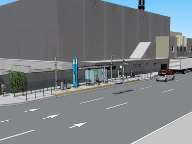 Rendering of eastbound CCL station at Monroe and 1st