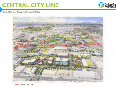 Rendering of CCL through the U District