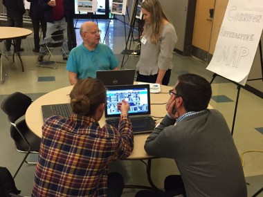 STA meet with participants to gather input on design
