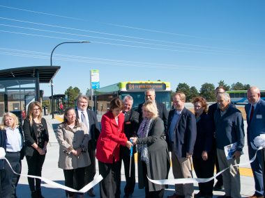 The Ribbon Cutting as the West Plains Transit Center opened in September 2019