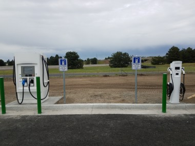 Electric vehicle charging stations installed