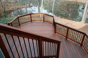 Deck by Pond