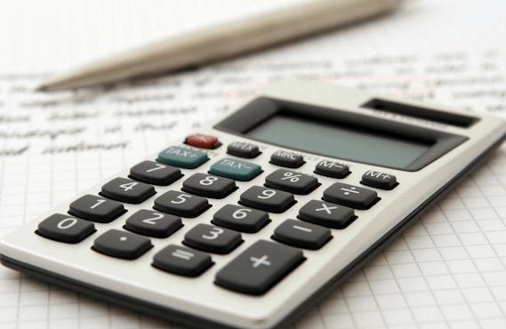 Calculator showng tax savings