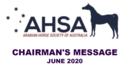 Chairman's Message - June 2020