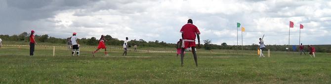 Maasai Cricket Warriors vs Rift Valley Cricket Club at the Laikipia Highland Games