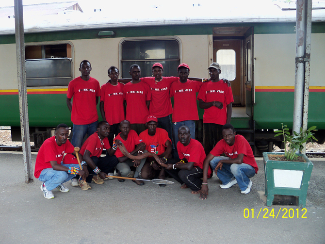 The Maasai Cricket Warriors Arrive at Mombasa Railway Station for the start of their 2-month Academy Training at the Legends Cricket Nursery