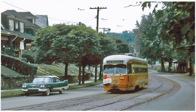 Streetcar outbound on Ferndale Avenue, August 16, 1958