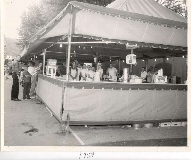 Ferndale Firemen's Jubilee Kitchen, 1959