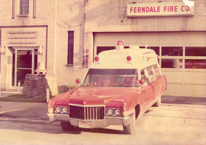 Ferndale ambulance, 1970.