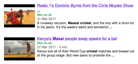 Bbc maasai cricket videos
