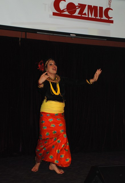 Bidya Upadhyay performs a traditional Nepali dance.