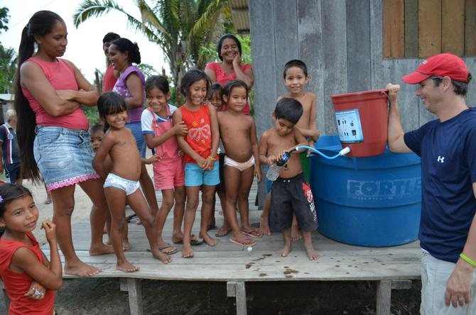 Family from the Village of Ena now have safe, drinking water...THANK YOU!!