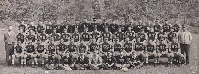 Ferndale football team, 1945