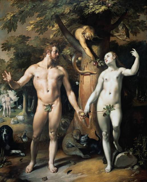 "Cornelisz van Haarlem's ""Adam and Eve"""