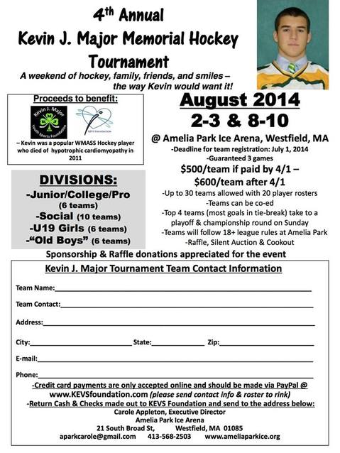4th annual kjm hockey tournament