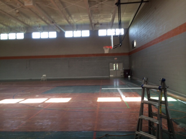 Gym after painting walls