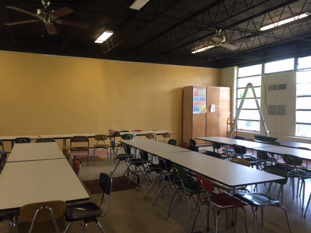 Cafeteria after painting
