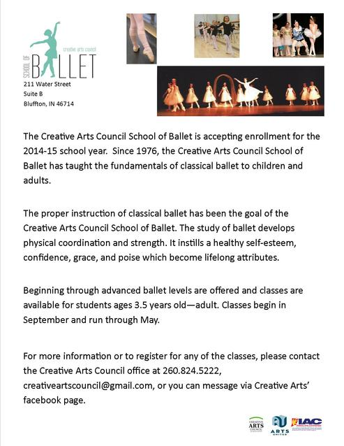 Ballet classes at cac
