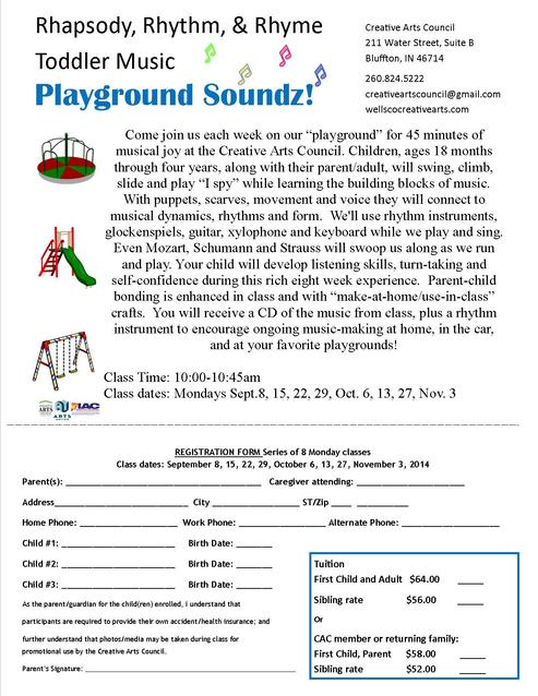 Playground soundz reg form