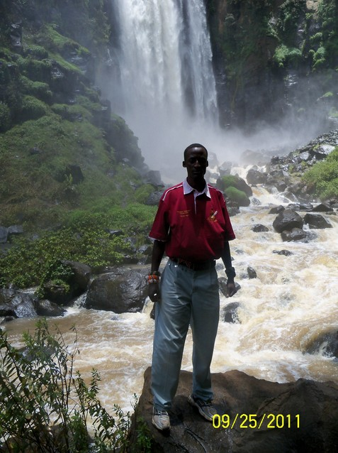 Enjoying a visit to the Thompson's Falls after the Laikipia Highland Games