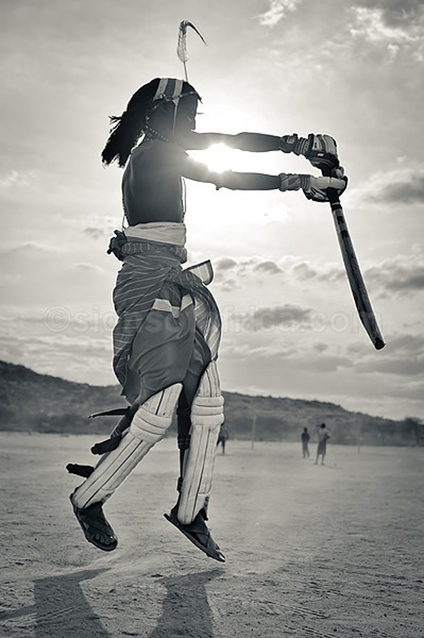 My life has changed since I exchanged my spear and shield for a cricket bat and ball . . .