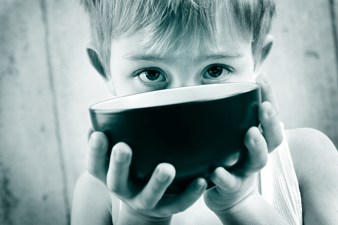 Boy with bowl small