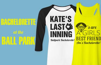 Baseball Bachelorette Party Shirts