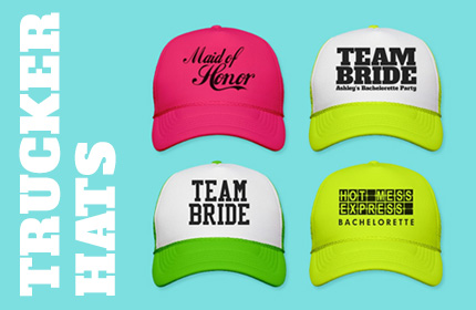 Bride and Bachelorette Party Trucker Hats