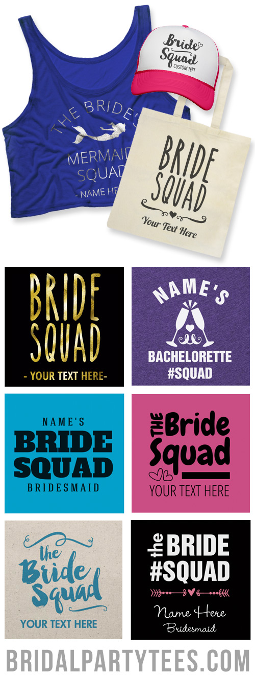 Bride Squad Shirts
