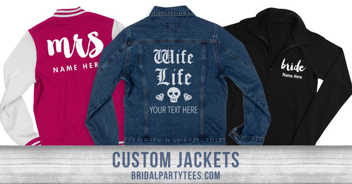Custom Bridal Party Jackets