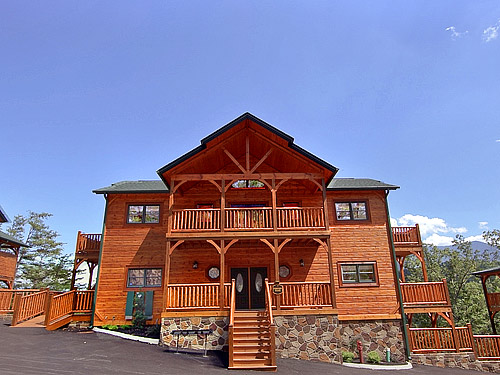 Pigeon Forge Cabin Parkview Palace 7 Bedroom Sleeps 28