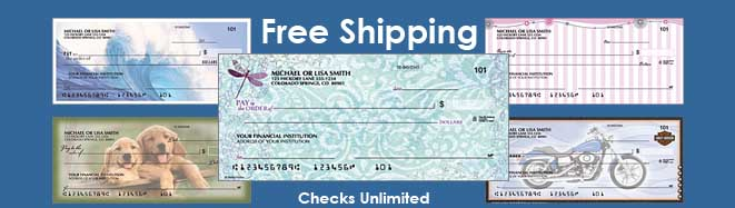 When you order checks and accessories from Checks Unlimited, you'll be expressing your personal style while receiving affordable, secure and quality products. Save time and money when you safely order checks online. We offer a large variety of unique designs at prices cheaper than most banks.