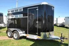 Stablemate 2 Horse Stock Sided BLACK with Swing wall dressing room