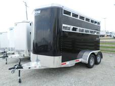 S2580 Stablemate 2 Horse BLACK horse trailer