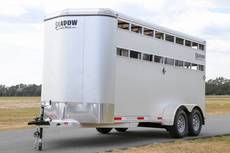 3 Horse Coughlin Shadow Stablemate Bumper Pull Trailer SILVER