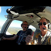 Flying with producer Charlie T.