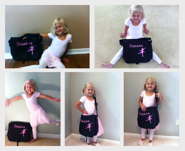 Custom Dance Bag Black and Pink