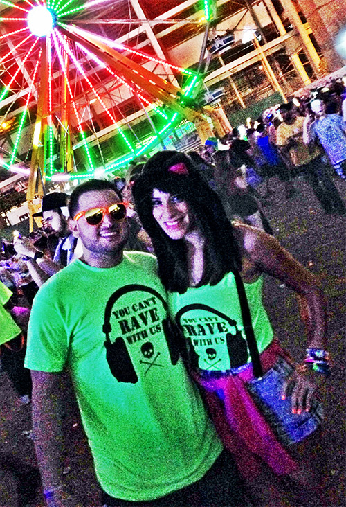 Cant Rave With Us Couple Shirts