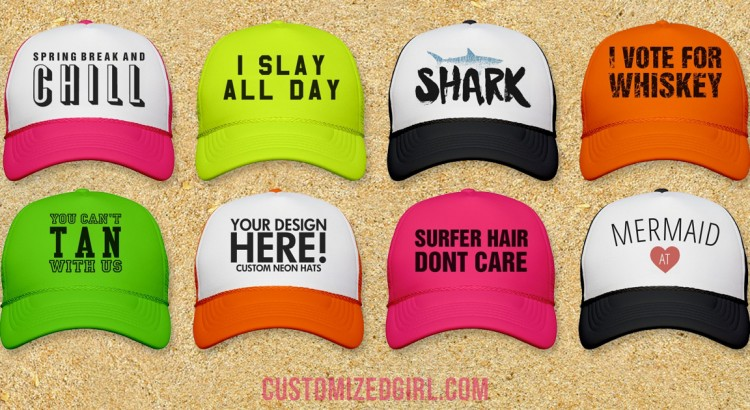 Custom Trucker Hats For Spring Break