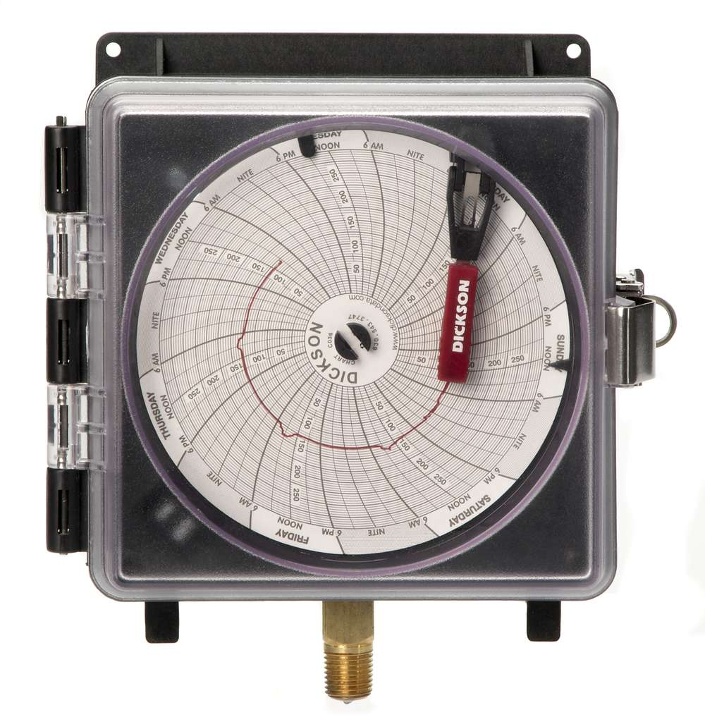Pressure Chart Recorders : Pw quot mm pressure chart recorder dickson
