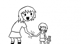 Shaking hands with Little Sarah \o/