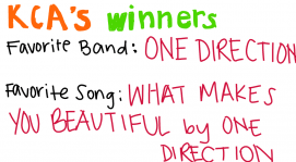 One direction won both awards!!!
