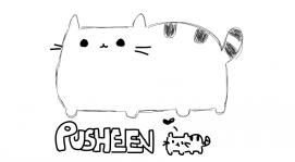 Fat cat pusheen