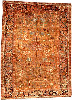 An antique Persian Heriz rug BB4536